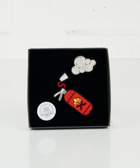 Fire Alarm Embroidered Pins