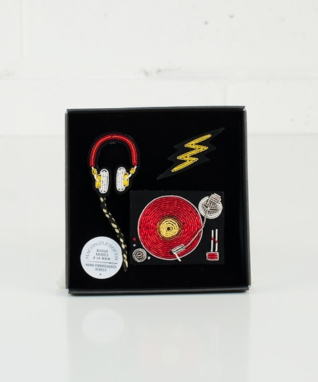 Deejay Set ! Embroidered Pins