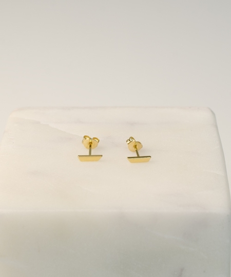Stripe Gold Studs