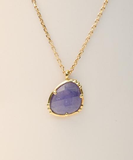 Triangle Tanzanite Necklace